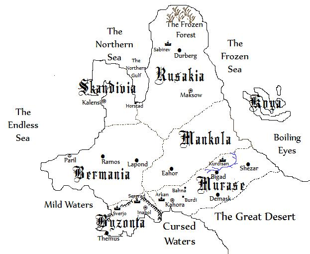 Map of Gorania